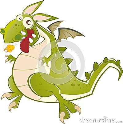 Fun dragon illustration