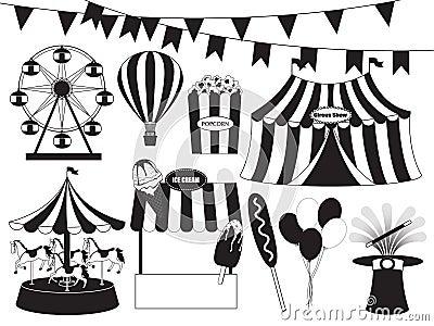 Fun Fair And Circus Collection Stock Vector Image 44723103