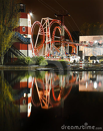 Fun Fair at Night