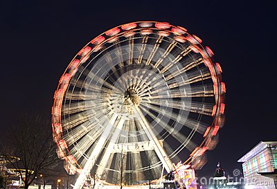 Fun Fair Wheel in Motion