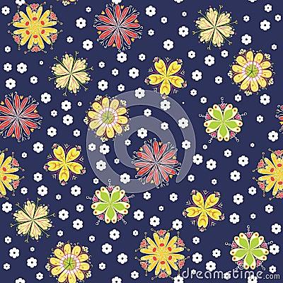 Fun flower background