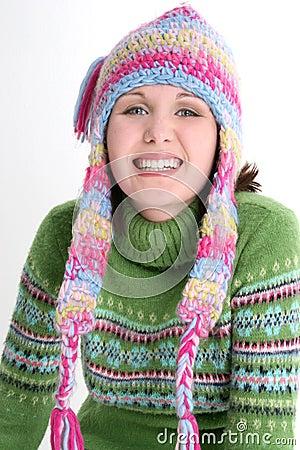 Free Fun Fresh Winter Teen Royalty Free Stock Photos - 255528