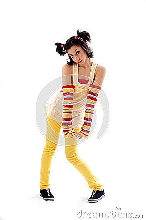 Fun girl standing