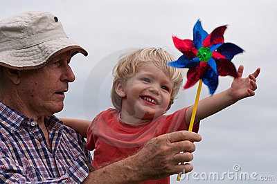 Fun with grandpa