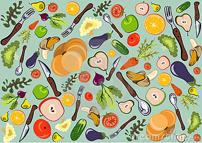 Fun healthy cuisine pattern
