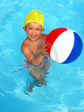 Free Fun In The Pool Stock Image - 8253941