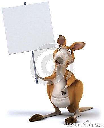 Free Fun Kangaroo Stock Photo - 26370810