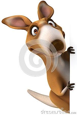 Free Fun Kangaroo Stock Photo - 26370860