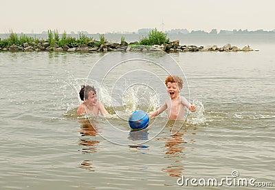 Fun kids in water