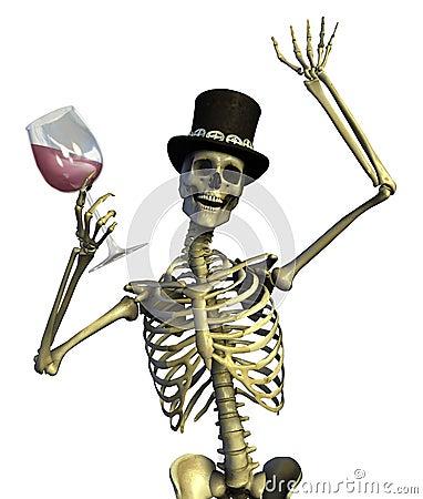 Free Fun Loving Party Skeleton Stock Image - 1586671