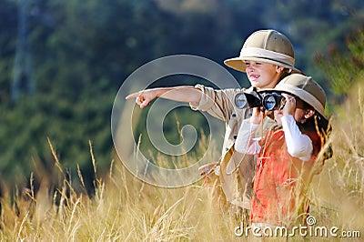 Fun outdoor children playing