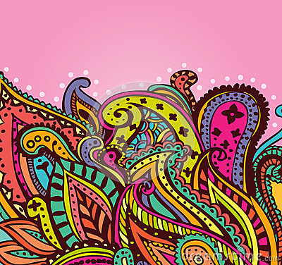 Fun paisley background