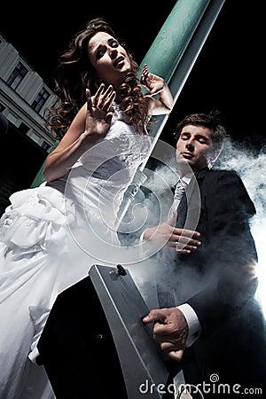 Fun photo of wedding