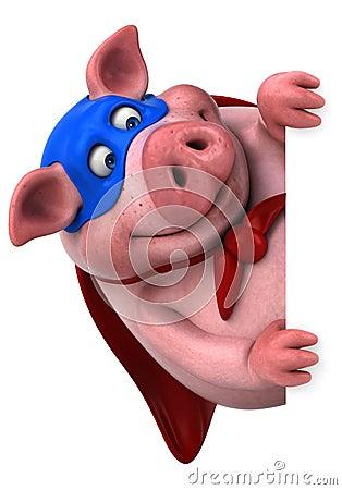 Free Fun Pig - 3D Illustration Stock Image - 83417581