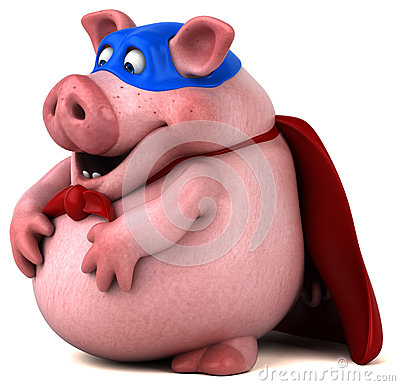 Free Fun Pig - 3D Illustration Stock Image - 85432751