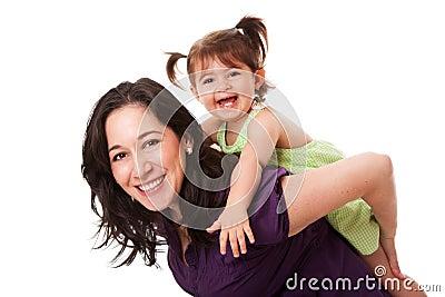Fun piggyback ride
