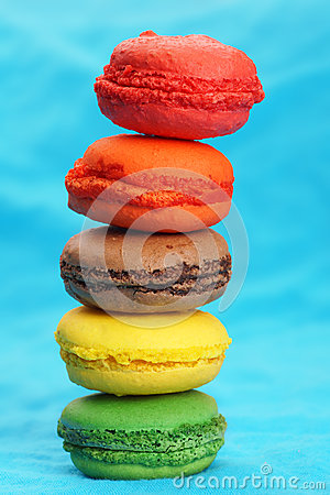 Fun pile of macaroons