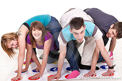 Fun while playing twister