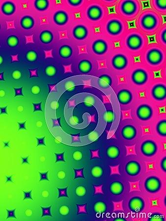 Fun Polka Dots Retro Pattern