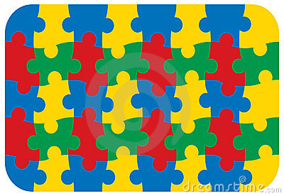 Fun primary colors jigsaw