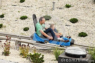Fun on the roller coaster