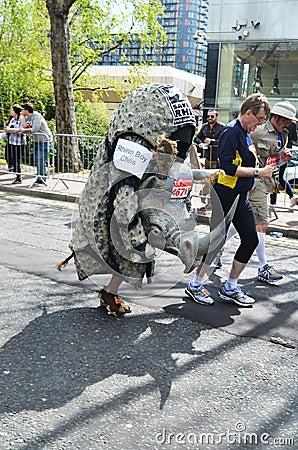Fun Runners At London Marathon 22th April 2012 Editorial Stock Image