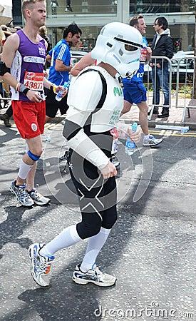 Fun Runners At London Marathon 22th April 2012 Editorial Stock Photo