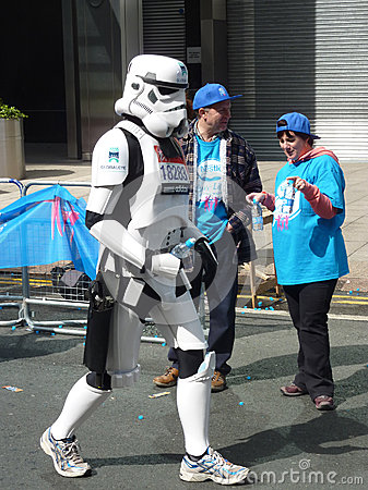 Fun Runners At London Marathon 22th April 2012 Editorial Image