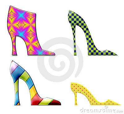 Free Fun Shoes And Boots Isolated On Stock Photos - 15479573