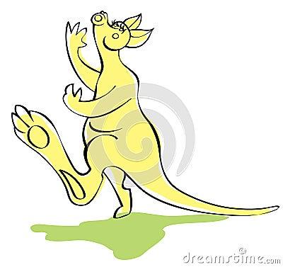 Fun singing kangaroo