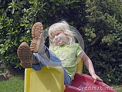 Fun on a slide