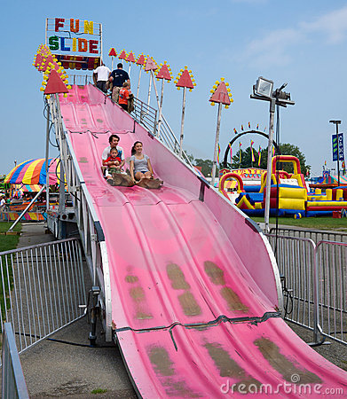 Free Fun Slide Ride Royalty Free Stock Photo - 21039565