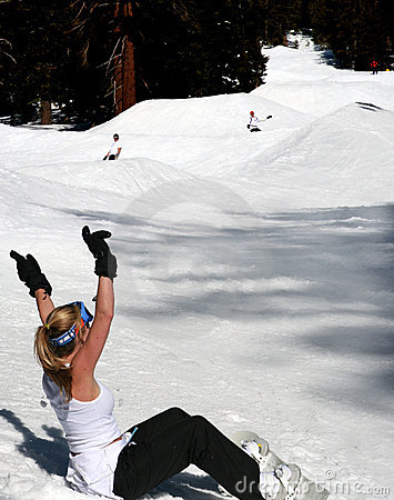 Free Fun Snowboarding Royalty Free Stock Photo - 127495
