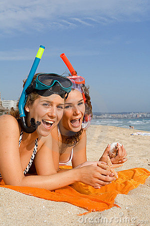 Fun on summer beach vacation