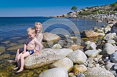 Fun on Swedish beach