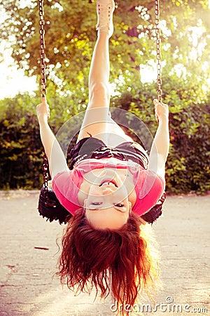 Fun on  swing