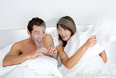 fun time in bedroom stock photography image 27202202