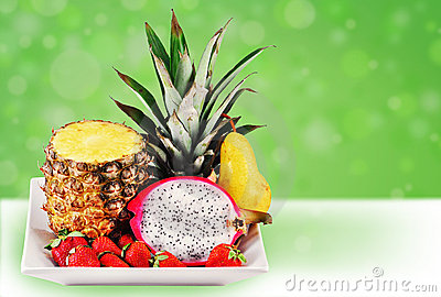 Fun tropical fruit mix