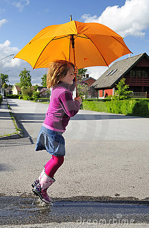 Fun with umbrella