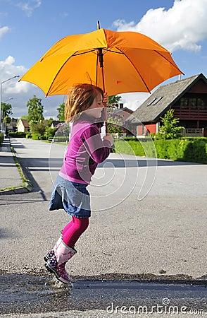 Fun with umbrella