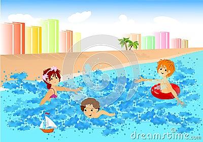Fun in the water, cdr vector