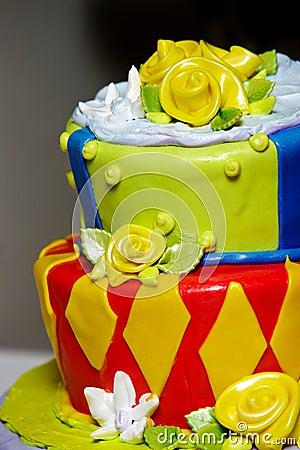 Fun wedding cake