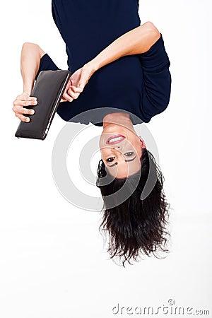 Tablet upside down