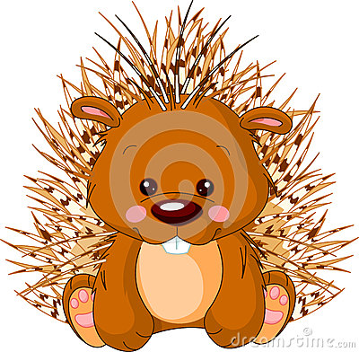 Free Fun Zoo. Porcupine Stock Images - 26138784
