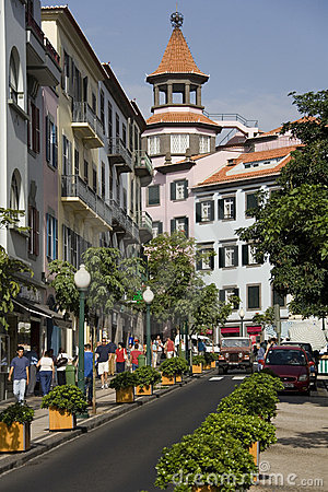 Funchal on the Island of Madeira Editorial Image