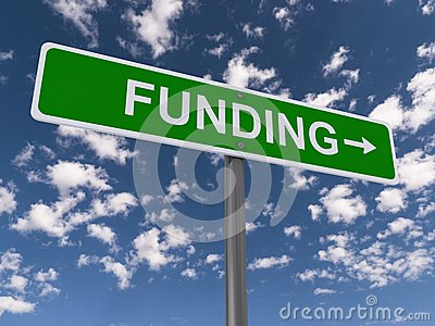 Funding road sign