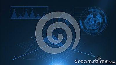 Fundo azul gráfico ilustração stock