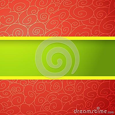 Fundo brilhante vermelho e verde