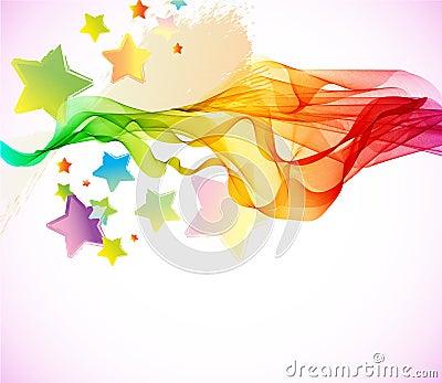 Fundo colorido abstrato com onda
