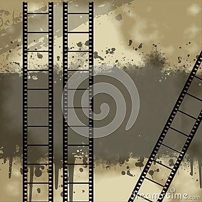 Fundo com Grunge Filmstrip
